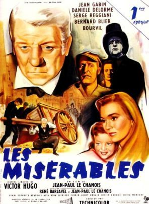 Les Miserables Movie Poster 1958 Old Film Posters Les Miserables Movie Posters