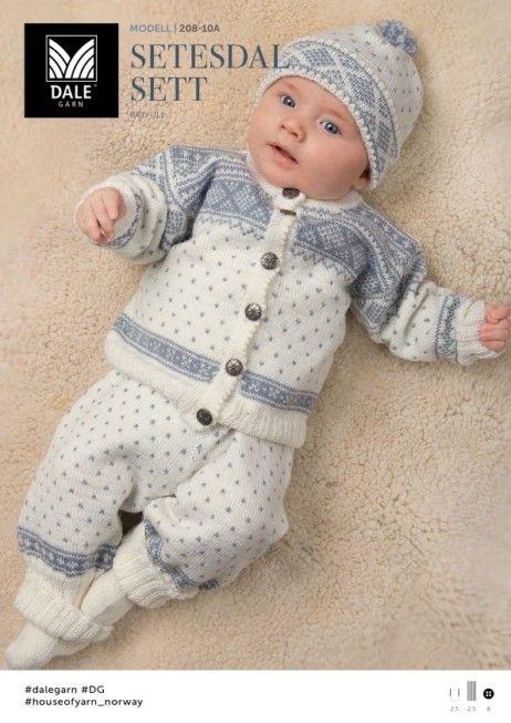 mønster dale setesdal genser baby
