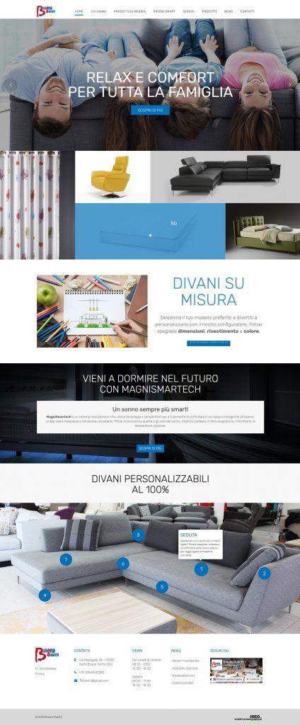 Poltrone E Divani Produzione.Sito Wordpress Responsive Per Biasini Salotti Produzione E Vendita