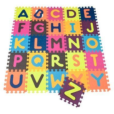 B Toys Alphabet Foam Floor Puzzle Beautifloor 26pc In 2020 Foam Tiles Foam Flooring Floor Puzzle