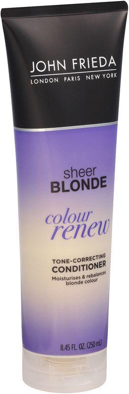 John Frieda Sheer Blonde Color Renew Tone Restoring Conditioner Ulta Beauty Brassy Hair Purple Shampoo Purple Shampoo And Conditioner