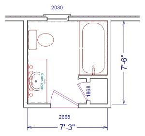 X Master Bathroom Floor Plan With Bath And Toilet In