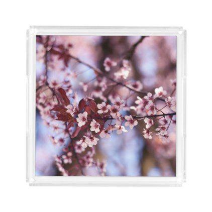 Japanese Cherry Blossom Tree Plant Love Botanical Acrylic Tray Flowers Floral Flower Design Unique Styl Trees To Plant Japanese Cherry Blossom Cherry Blossom
