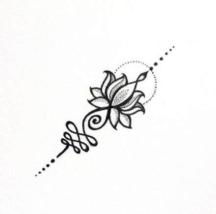 Trendy Tattoo Lotus Small Mandala Ideas Unalome Tattoo Tattoos Sternum Tattoo