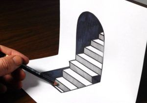 How To Draw 3d Drawings On Paper Step By Step Easy How To Draw 3d Steps Easy Trick Art Youtube Easy Drawings 3d Drawings Step By Step Drawing