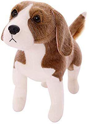 Amazon Com Wakey Puppy Realistic Stuffed Animal Beagle Dog