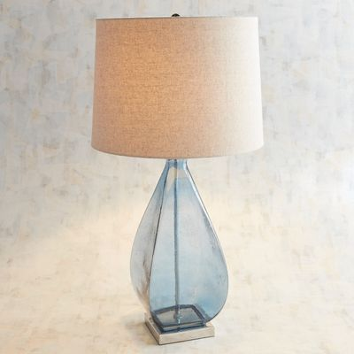 Doli Blue Glass Table Lamp Table Lamp Glass Bedside Lamps