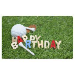Golf Happy Birthday Sign With Golf Ball And Tee Zazzle Com Happy Birthday Signs Golf Birthday Party Golf Birthday