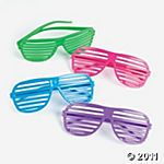 glow in the dark shutter shades..want these for my birthday party!!