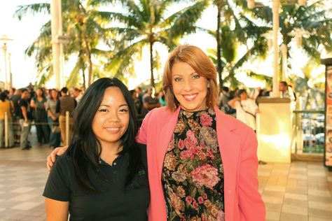 PBS Hawaii Director of Communications Liberty Peralta & President/CEO Leslie Wilcox at #sherlockHI