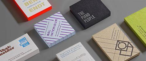Letterpress Stellt Hochwertige Visitenkarten Her