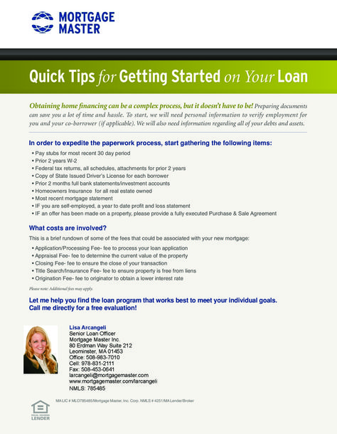 Getting started on mortgage financing http\/\/mortgagemaster - free profit and loss statement for self employed