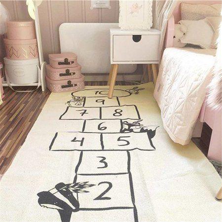 Marsin 67 Soft Cotton Baby Kids Game Gym Activity Play Mat Crawling Blanket Floor Rug Digital Checkers Design Walmart Kids Playmat Kids Rugs