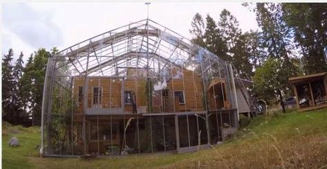Family Wraps Home In Greenhouse To Protect It From The Cold #HomeSecuritySystemReviews #HomeSecuritySystems