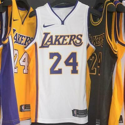 Sponsored Kobe Bryant Los Angeles Lakers Black Gold Yellow City Edition Men Jersey 24 New In 2020 Kobe Bryant Kobe Bryant Los Angeles Los Angeles Lakers