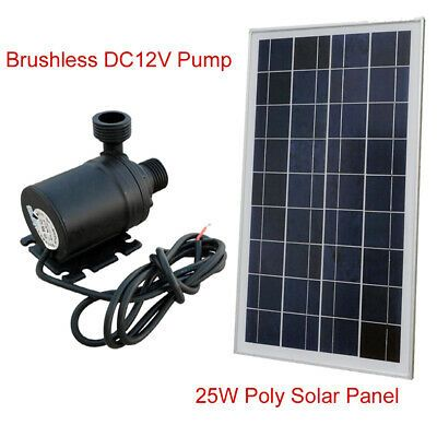 Ad Ebay 12v Solar Pump System Kit 25w Solar Panel Hot Water Circulation Brushless Pump Solar Energy Panels Solar Panels Solar Panel System