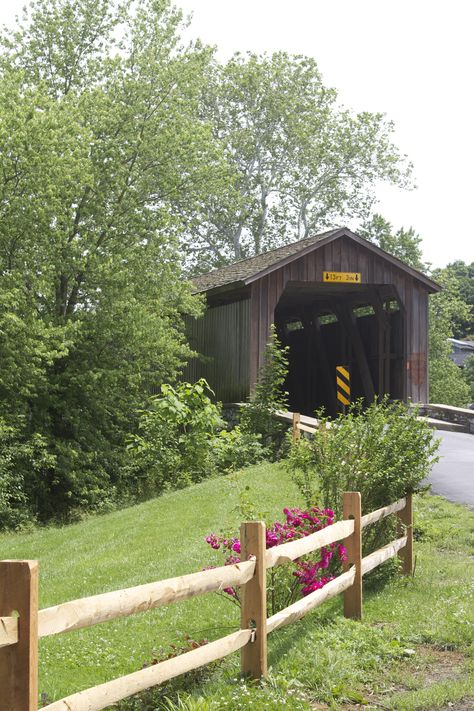 """Covered Bridge in Lancaster, Pennsylvania  We've been there and drove the """"covered bridges"""" of Lancaster map...totally awesome."""