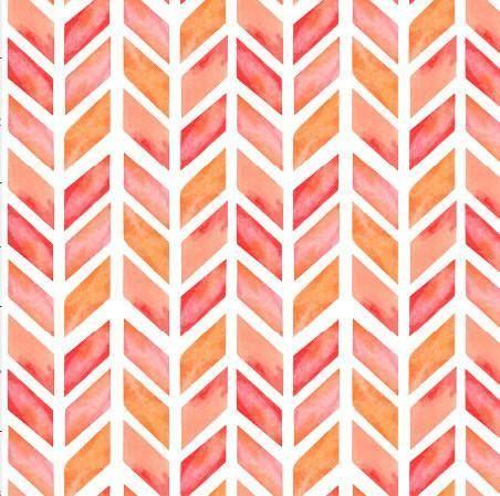 Crib Sheet Peach Pink Orange Chevron Print Girls Fitted Crib Sheet In A Water Color Print Boho Sheet Or Shabby Chi Prints Colorful Prints Chevron Wallpaper