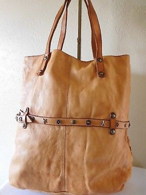 New Costanza Rota Floral Italy Leather Tote Bag With Belt