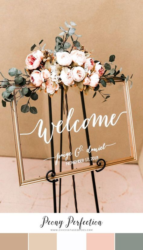 12 Stunning Color Palettes for a Spring Wedding – Chic Vintage Brides – Wedding Decor Spring Wedding Decorations, Spring Wedding Colors, Spring Wedding Inspiration, Spring Weddings, Romantic Weddings, Best Wedding Colors, Ceremony Decorations, Unique Weddings, Wedding Beauty