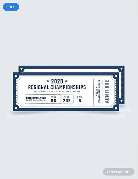 Free Blank Sports Ticket Ticket Template Sports Ticket Template
