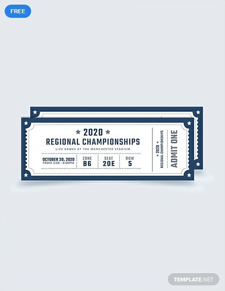 Free Sample Blank Sports Ticket Template Illustrator Word Apple Pages Psd Publisher Template Net Ticket Template Free Sports Ticket Template Ticket Template