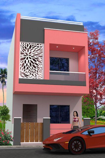 Https Nikshailhomedesign Blogspot Com 2019 01 15x30 House Plan With 3d Elevation Html House Balcony Design Small House Elevation Design House Outer Design