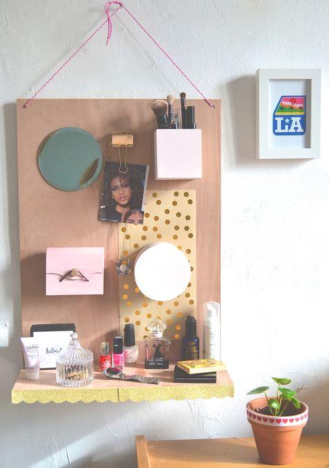 Diy Beauty Organizer Diy Rangement Maquillage Www Picsandbubble Fr Bricolage Deco Rangement Deco