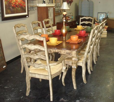 Country Dining Room Set Style Chairs