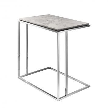 Beistelltisch Ben Marmor Edelstahl Weiss Silber Beistelltisch Beistelltische Tisch