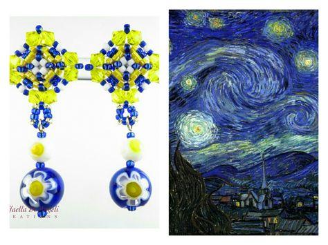 """""""Butterò questo mio enorme cuore tra le stelle, un giorno giuro che lo farò…""""  Testo di Francesco De Gregori  Dipinto di Vincent Van Gogh  Orecchini in vetro di Murano di Raffaella De Angeli. Acquistali a 23€ su:   https://www.raffaelladeangeli.it/accessori/328-orecchini-perline-vetro-emma-05 -    #RaffaellaDeAngeli #ProdottoUnico #MadeInITALY #FattoAMano #ArtigianiItaliani #Torino #Handmade #jewelry #beads #handcraft #bijoux #fashion #womanfashion #accessories #orecchini #rings #vetro…"""