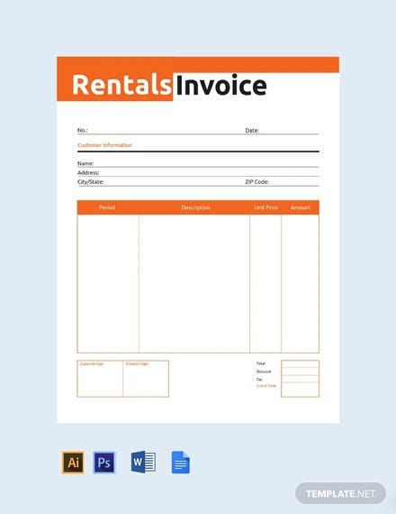 Commercial Rental Invoice Template Free Pdf Google Docs Google Sheets Excel Word Template Net Invoice Template Invoice Design Template Graphic Design Business Card