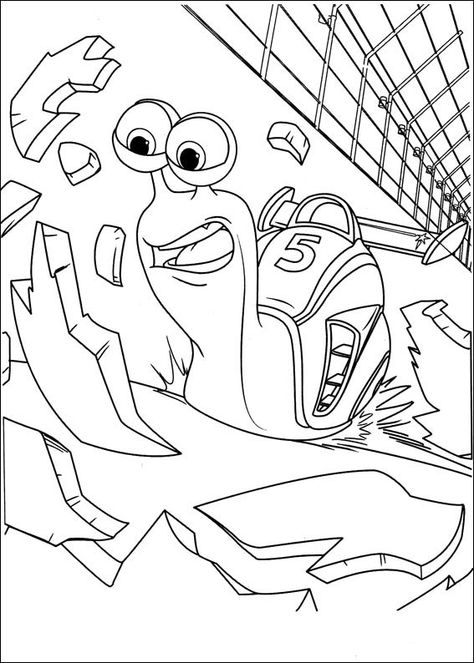 Turbo Coloring Pages 16 Coloring Pages Coloring Pages For Kids Online Coloring Pages