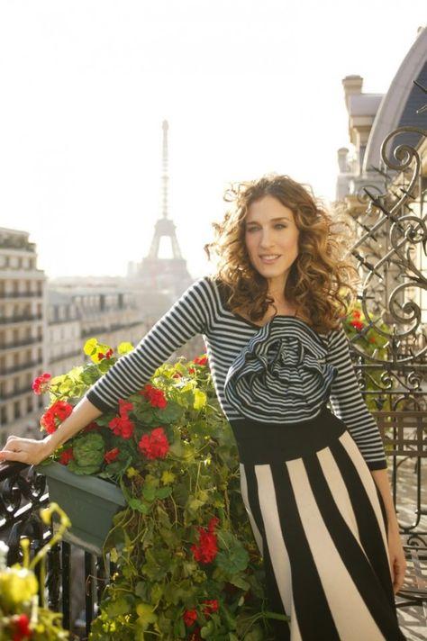 Sarah Jessica Parker In Plaza Athene Hotel Paris Carrie