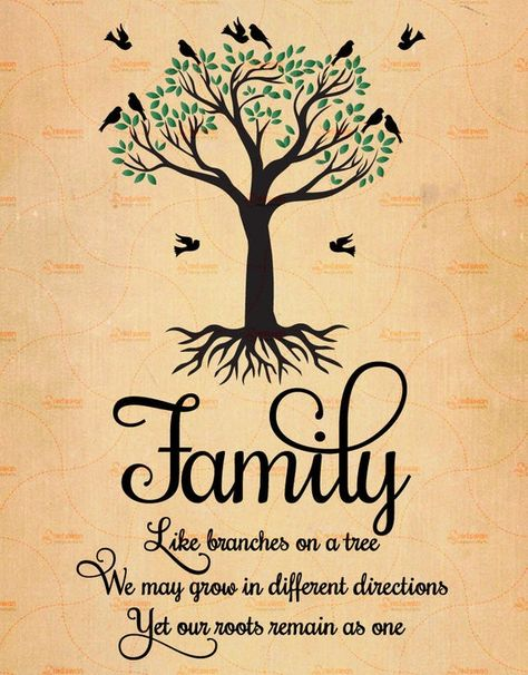 Printable Family Like Branches On a Tree Family Quote Family | Etsy