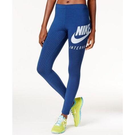leggings blu nike