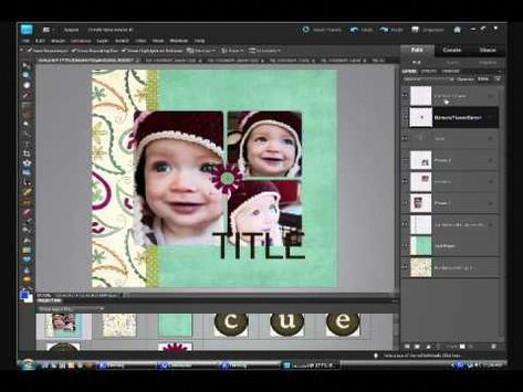 Digital scrapbooking 103. 2: using a template in photoshop elements.