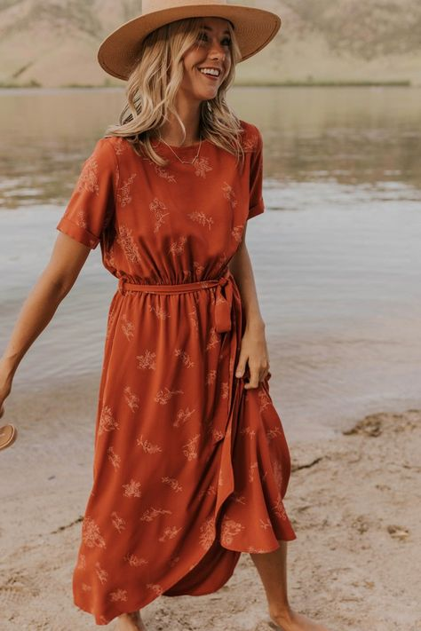 Floral Wrap Maxi - Modest Women's Clothing | ROOLEE