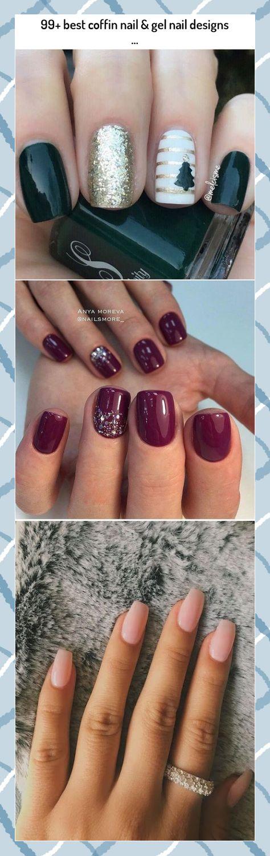 99+ best coffin nail & gel nail designs ... #99+ #best #coffin #nail #gel #nail #designs #...