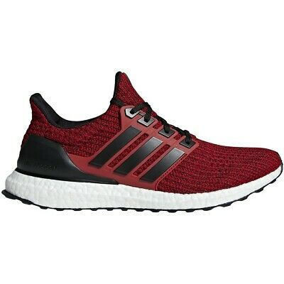 adidas Mens ULTRABOOST RED/BLACK SHOES