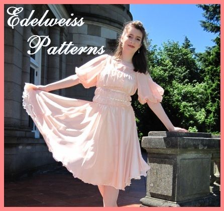 The hills are alive - with a pattern giveaway! :)  Edelweiss Patterns is holding a giveaway for one Liesl's Dancing Dress pattern this week. { http://www.edelweisspatterns.com/blog/?p=4818 }