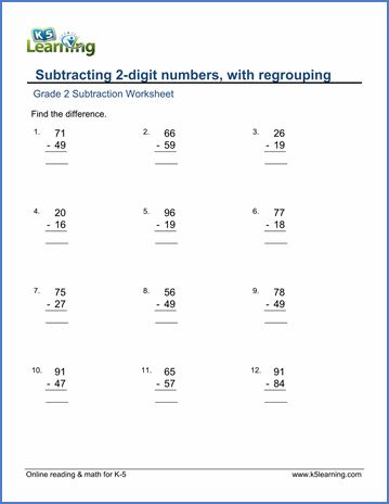 2 Digit Subtraction With Regrouping Subtraction Worksheets Subtraction Subtraction With Regrouping Worksheets