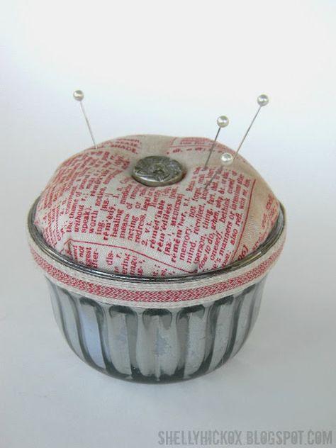 Vintage Jelly Jar Pincushion + Eclectic Elements Inspiration! (Stamptramp)