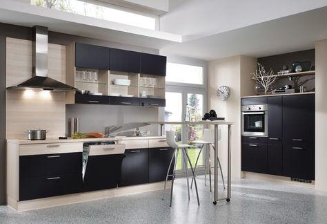 Schwarze Küche Von Nobilia \/ Black Kitchen By Nobilia Küche   Kuchen  Design Vom Feinsten