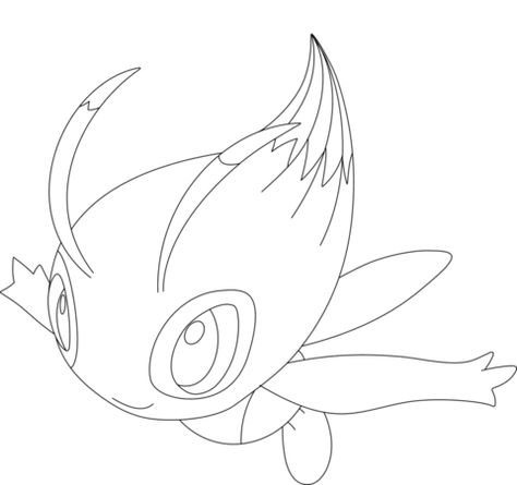 Click To See Printable Version Of Celebi Coloring Page With