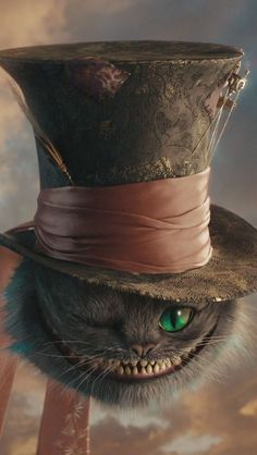 | Cheshire Cat with the mad hatters hat