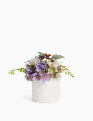 Artificial Hydrangea Pot M S In 2020 Hydrangea Potted Artificial Hydrangeas Artificial Flowers