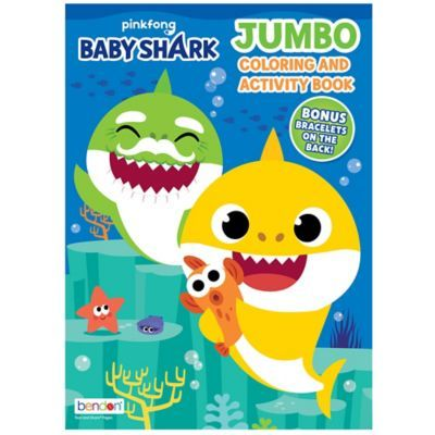 Baby Shark Jumbo Coloring Activity Book In 2021 Baby Shark Shark Themed Birthday Party Shark Party Favors