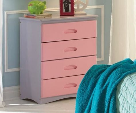 Doll House Chest Coaster Furniture Kids Dressers Pink Dresser