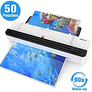 A3 Laminator Machine Rapid 1 5 Minute Warm Up Thermal Laminating Machine With Trimmer For Home Office School Use With 50 Pouches And Co Pouch Thermal 10 Things